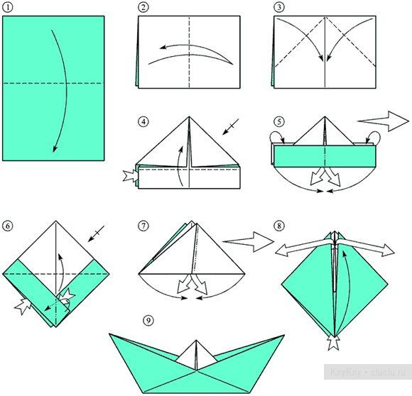 Своими руками лодки из бумаги