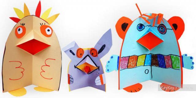 Поделки для детей и з бумаги