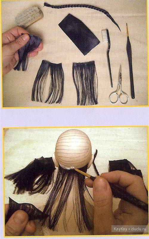 Мк волосы из атласной ленты своими руками