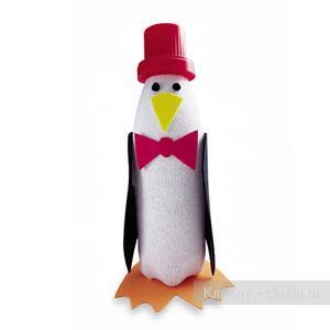 Поделка пингвинов из пластиковых бутылок 236