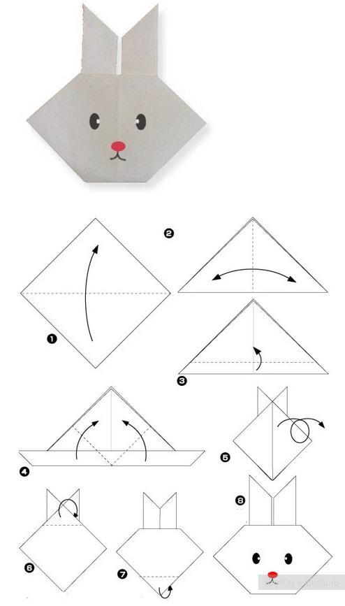 Оригами схемы мордочки