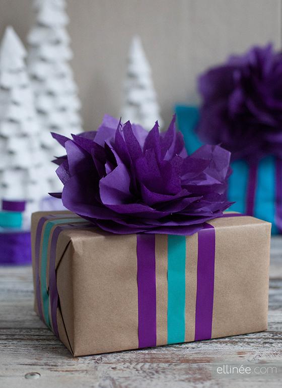 Сделать упаковку для подарка из гофрированной бумаги 22