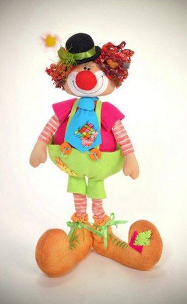 Кукла клоун своими рукам