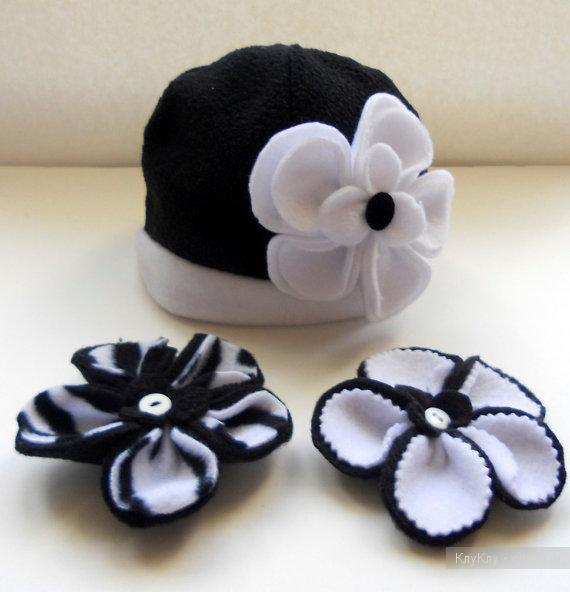 Как сделать цветы из флиса для шапки