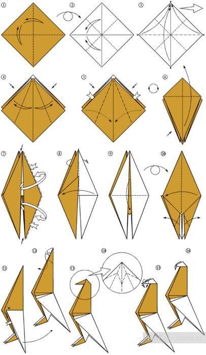 Как сделать поделки из бумаги схемы