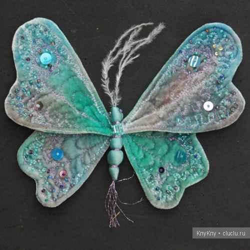 Сделать бабочку с ткани