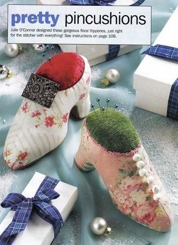 Выкройка туфельки-игольницы