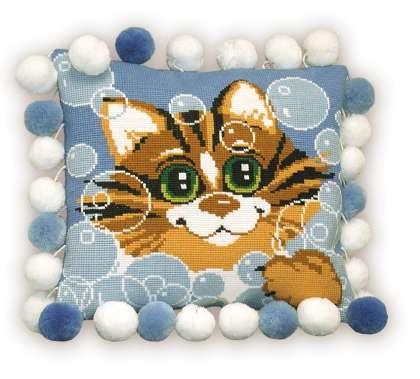 Схема вышивки подушки животные