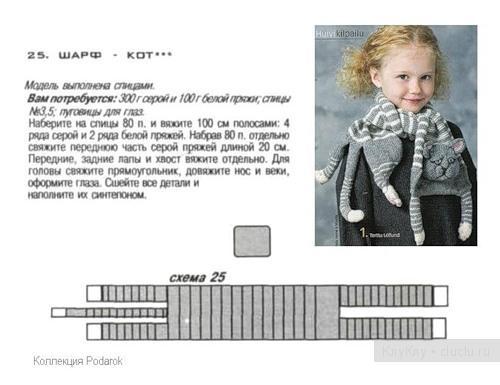 Схем вязание шарф детям