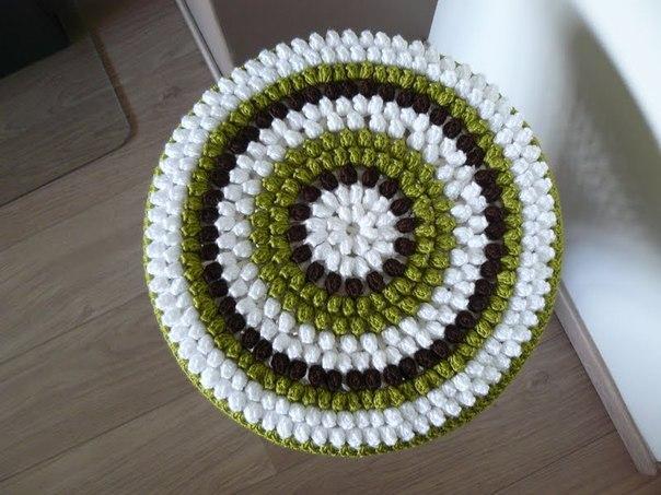 Вязаные коврики крючком пошаговая инструкция для начинающих 77