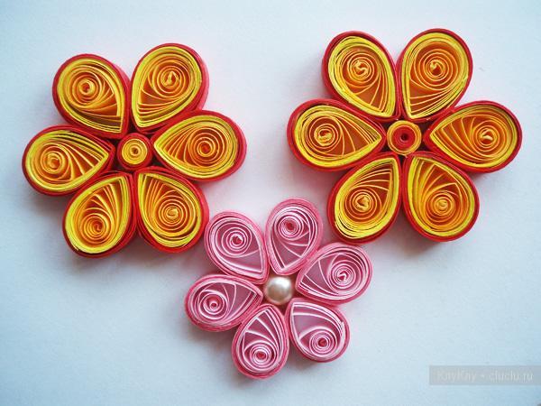 Квиллинг цветы из бумаги  схемы