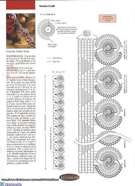 Все о вязании: Схема Вязания Тесьмы Крючком