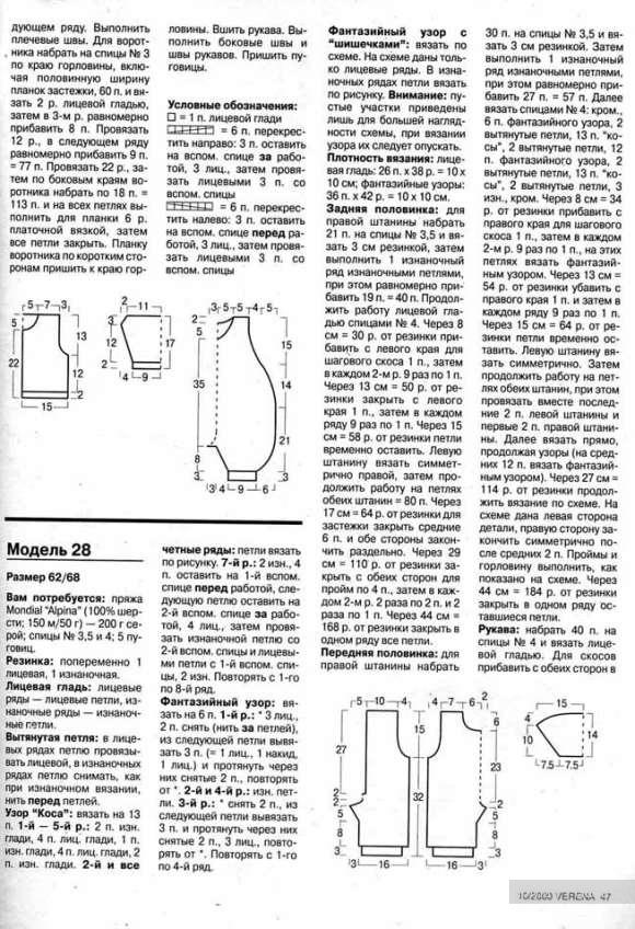 Схемы вязания комбинезонов для мальчиков 790