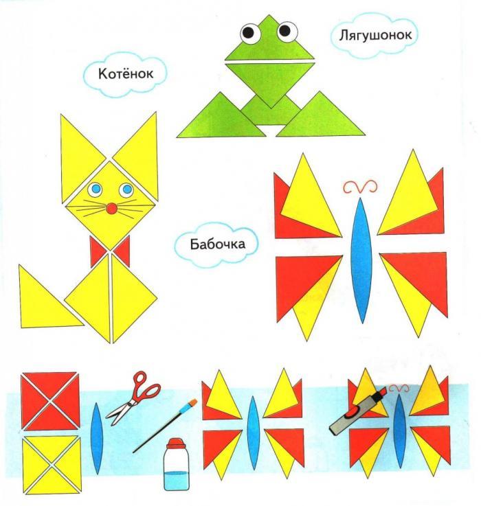 Поделки из бумаг треугольника
