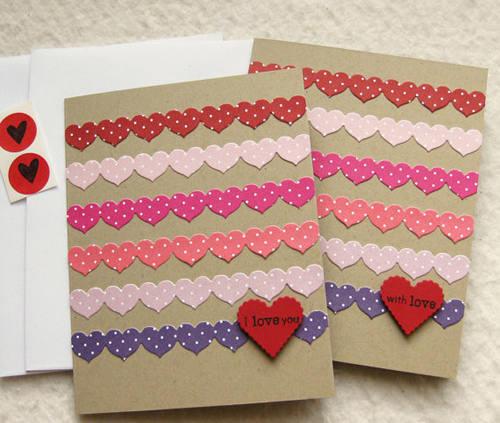 Ко дню святого валентина открытки своими руками