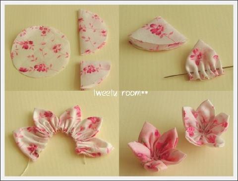 Как сделать цветы из ткани своими руками поэтапно