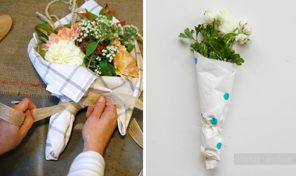 Как обернуть букет из цветов своими руками