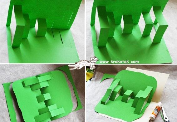 Клумба из цветной бумаги