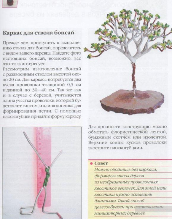 Деревья из бисера своими руками фото инструкция