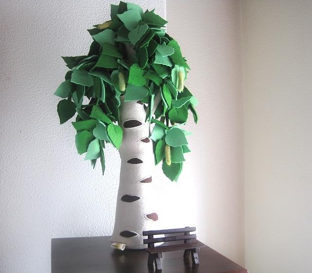Как сделать дерево из фетра мк