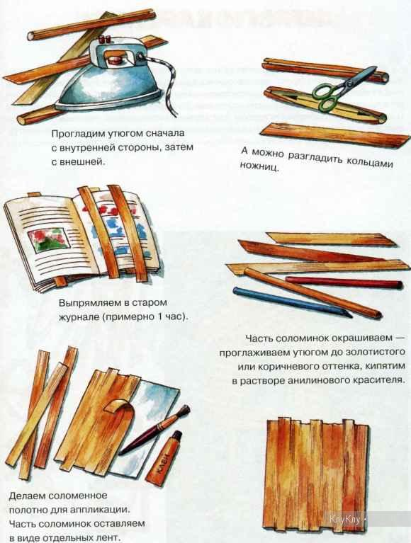 Как сделать соломку