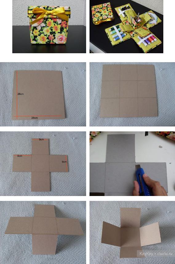 Шкатулки из картона своими руками фото поэтапно для