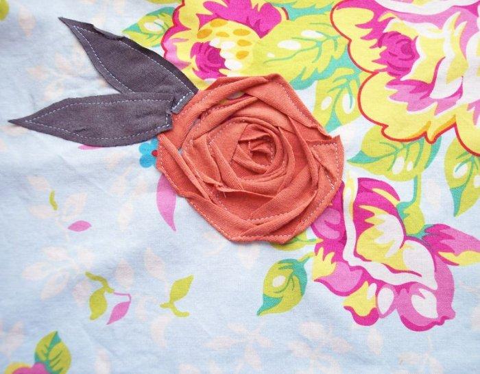 Цветы аппликации из ткани своими руками