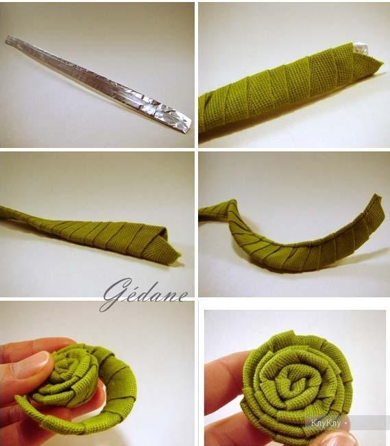 Изготовление цветы из атласных лент