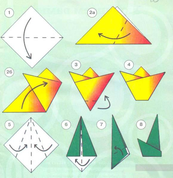 Оригами из бумаги своими руками на день рождения маме