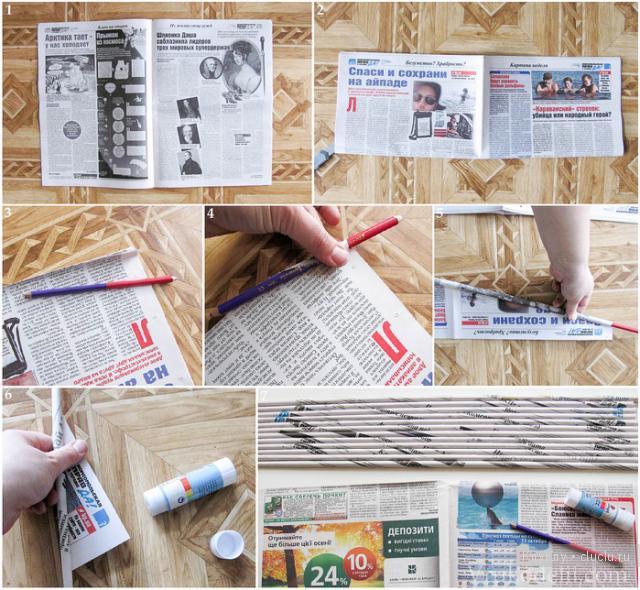 Поделки из газеты для начинающих своими руками