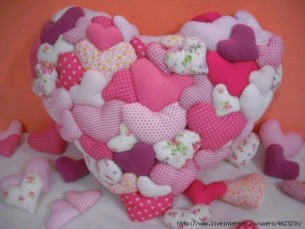 Сердце-подушка своими руками