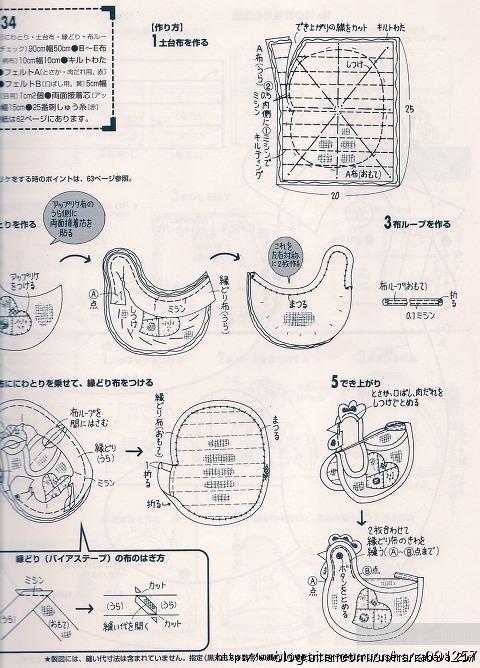 Выкройка петуха прихватки из ткани