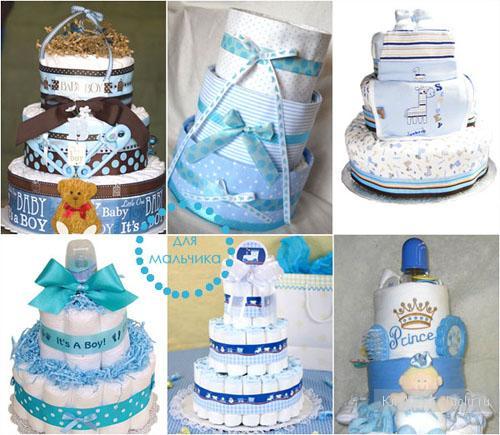 Как украсить торт из памперсы