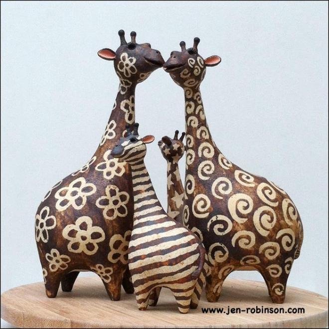 Поделки из глины жираф 36