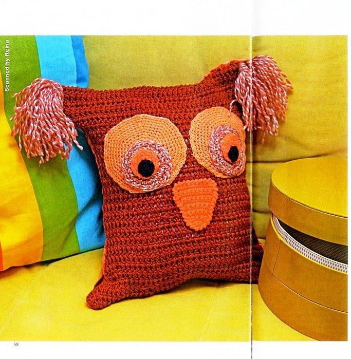 Подушка игрушка своими руками вязание