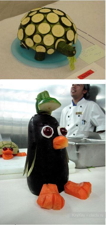 Красивые детские поделки из овощей