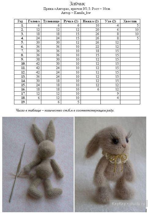 игрушки амигуруми крючком с описанием и схемами