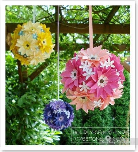 Цветочные шары из бумаги видео