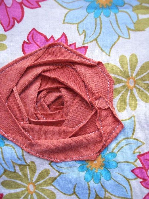 Роза из ткани для детей