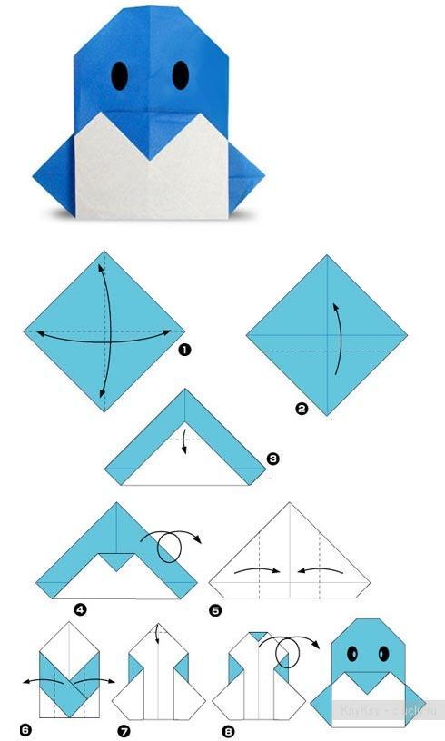 Оригами из бумаги животные по схемам легко 192
