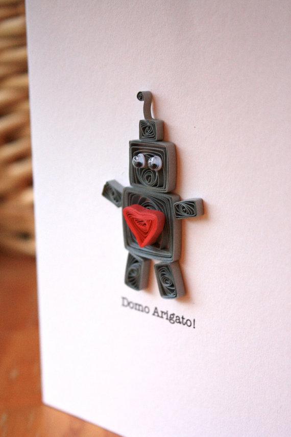 Открытка для мальчика с роботом