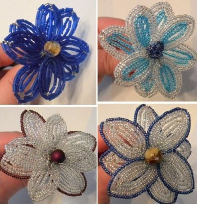 Как самой сделать цветы из бисера