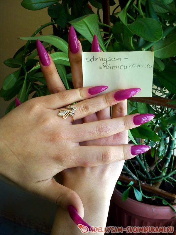 Наращивание ногтей акрилом своими руками