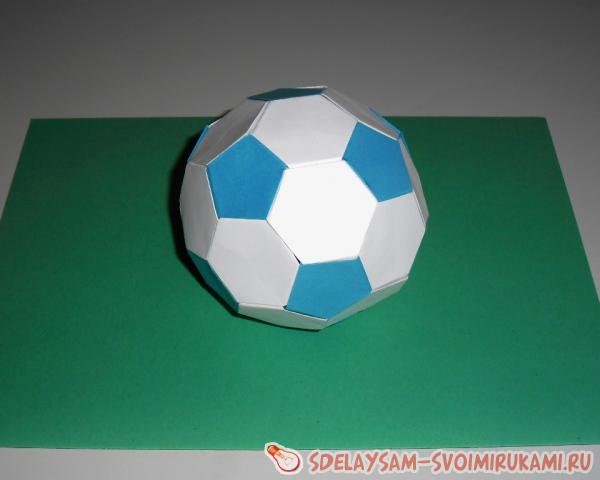 Поделки из бумаги футбольный мяч