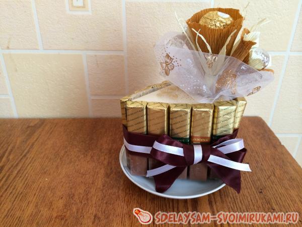 Подарки своими руками из шоколадных конфет