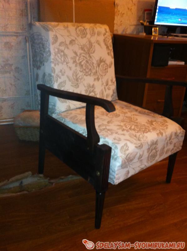 Ремонт своими руками старинного кресла 72