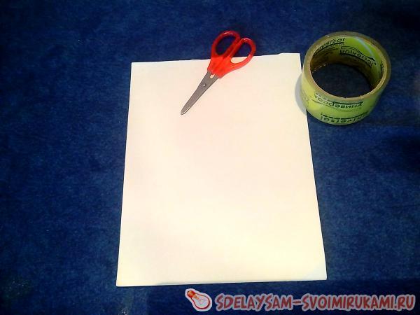 Поделки из бумаги и скотча и ножниц