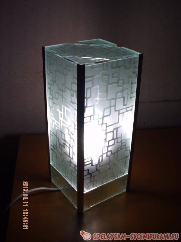 Светильники своими руками из стекла 91