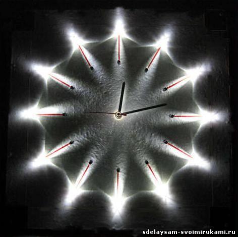 Часы со светящимся циферблатом своими руками