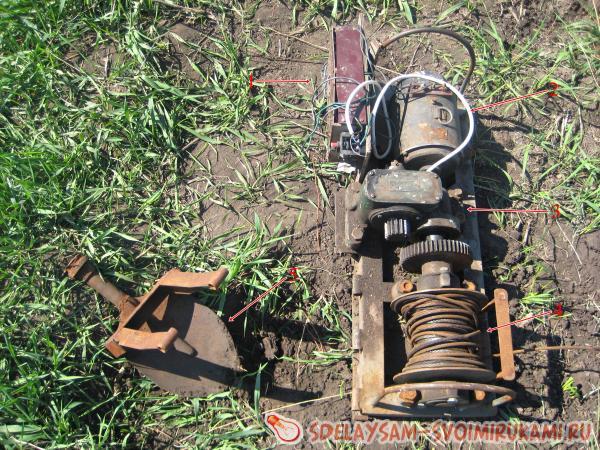 Электролебедка для вспашки земли